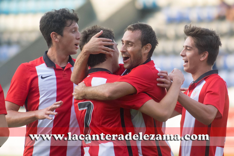 Los cachorros celebran un gol | Foto: Unai Zabaleta