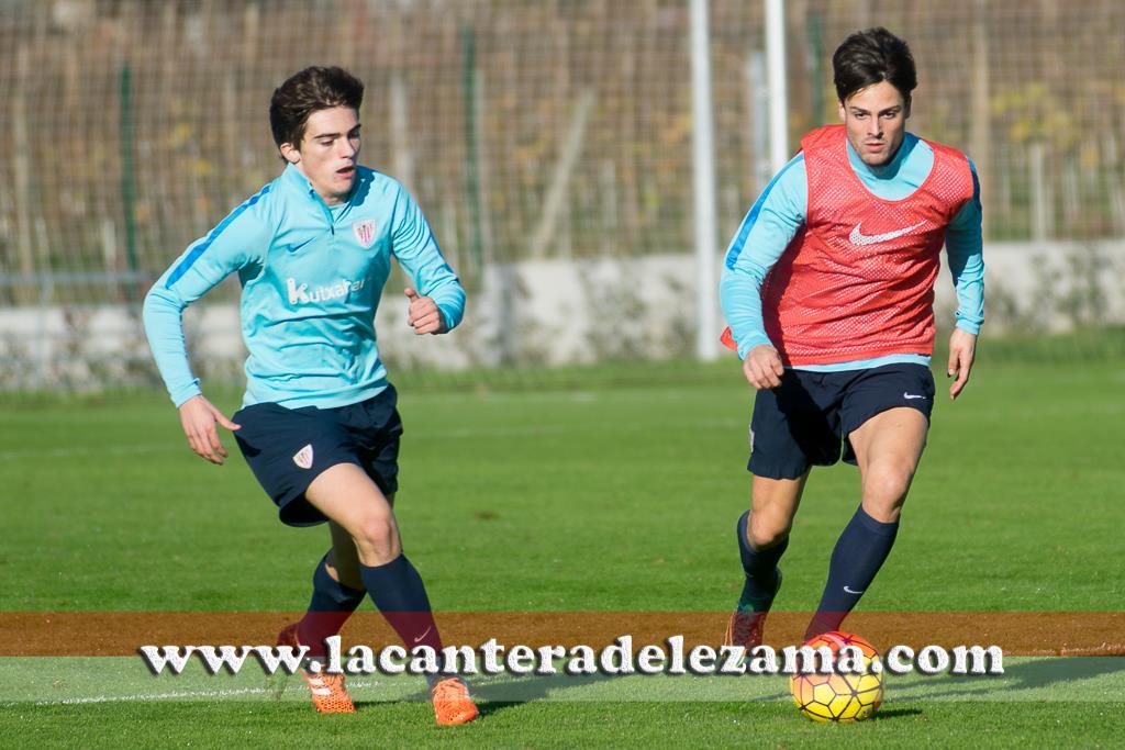 Markel Etxeberria y Córdoba durante un entrenamiento | Foto: Unai Zabaleta