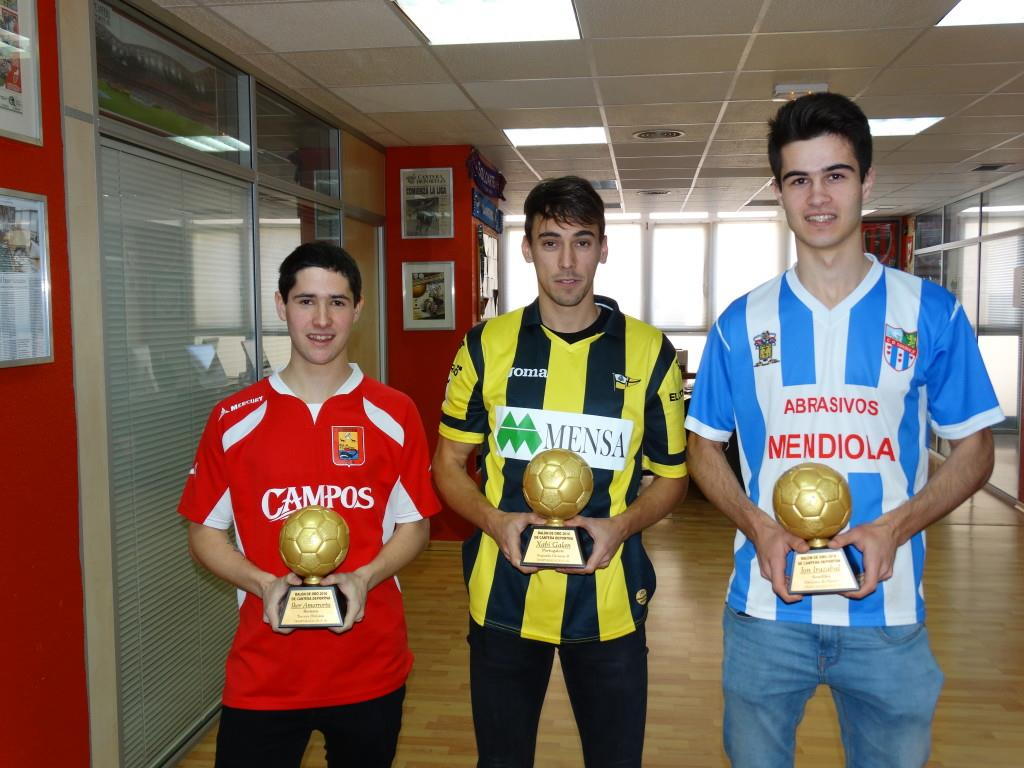 Amorrortu, Galán e Irazabal | Foto: Cantera Deportiva