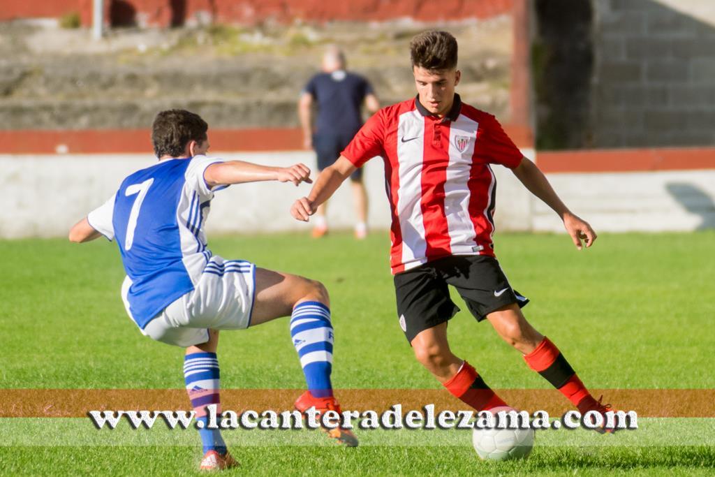 David Nates autor del único gol del Athletic | Foto: Unai Zabaleta