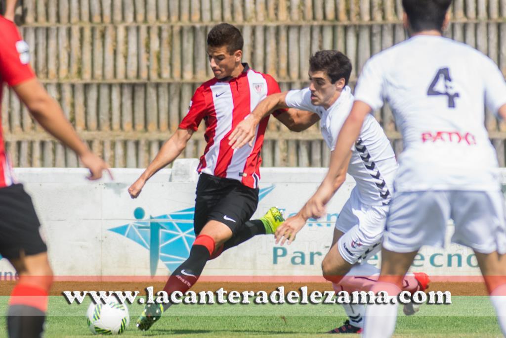 Guruzeta autor del gol del Bilbao Athletic | Foto: Unai Zabaleta