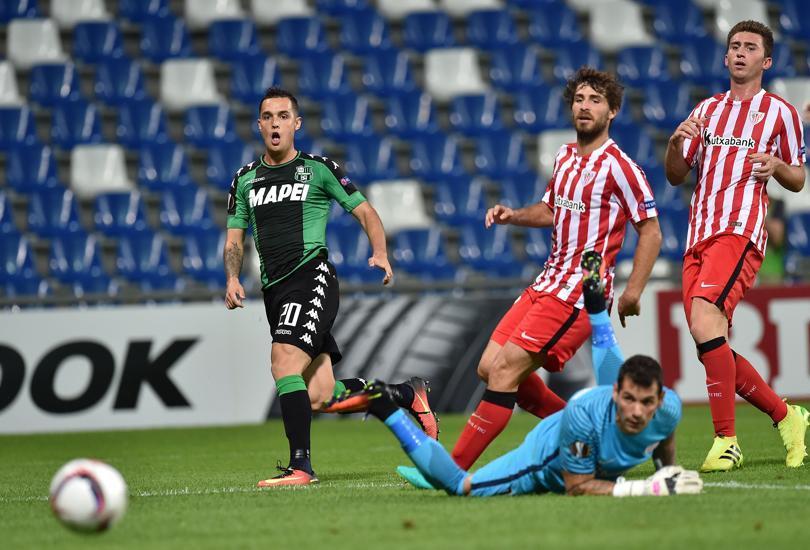 Yeray y Laporte ante el Sassuolo | Foto: Giuseppe Bellini (Getty)
