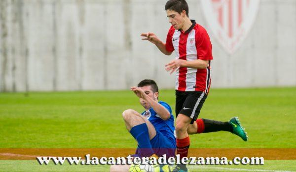 Gorka Aguirre autor del 0-1 | Foto: Unai Zabaleta