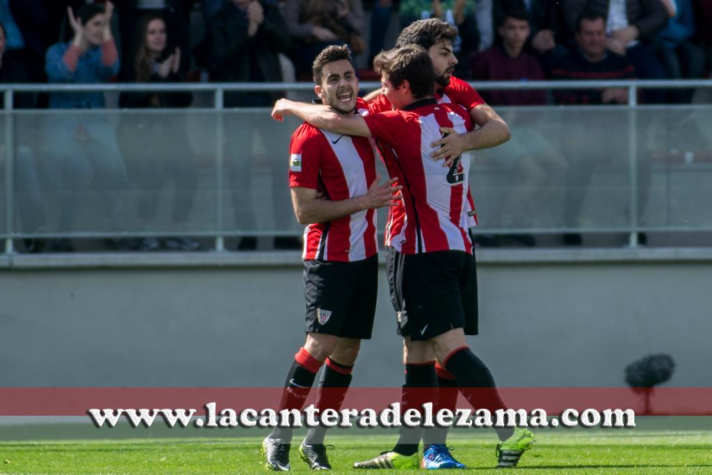 Celebración del gol de la victoria | Foto: Unai Zabaleta