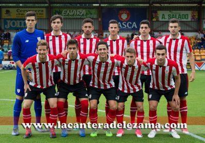 Once inicial del Bilbao Athletic en Portugalete | Foto: Unai Zabaleta
