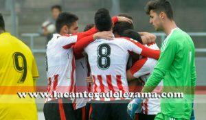 Celebración del 1-0 de Óscar Gil | Foto: Unai Zabaleta
